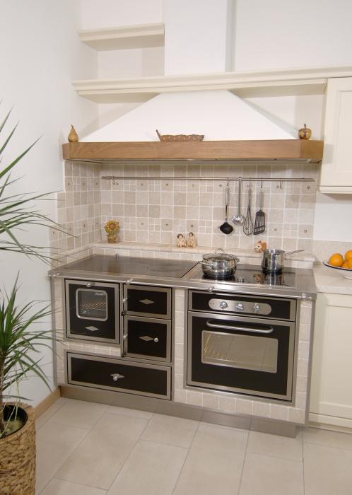 Cucina a legna rizzoli combinata stile unico - Cucina a gas economica ...