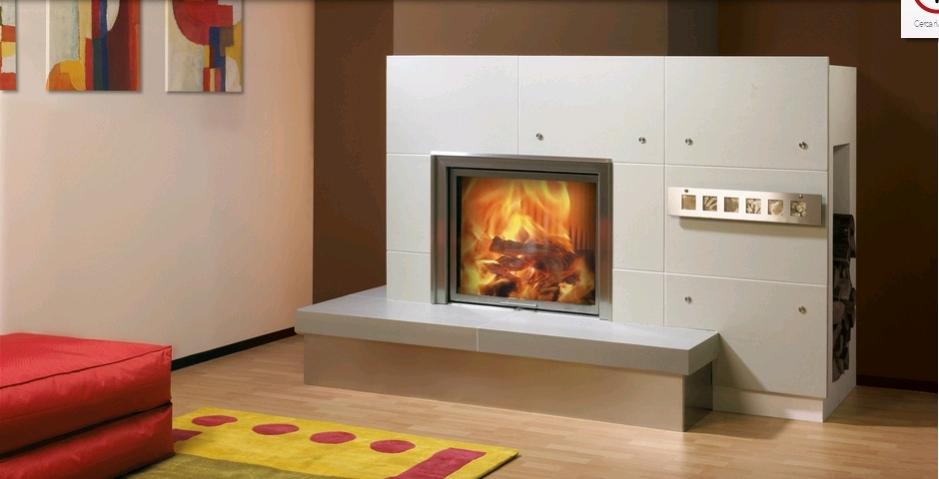 termocamino a legna spartherm varia 1v h2o stile unico. Black Bedroom Furniture Sets. Home Design Ideas