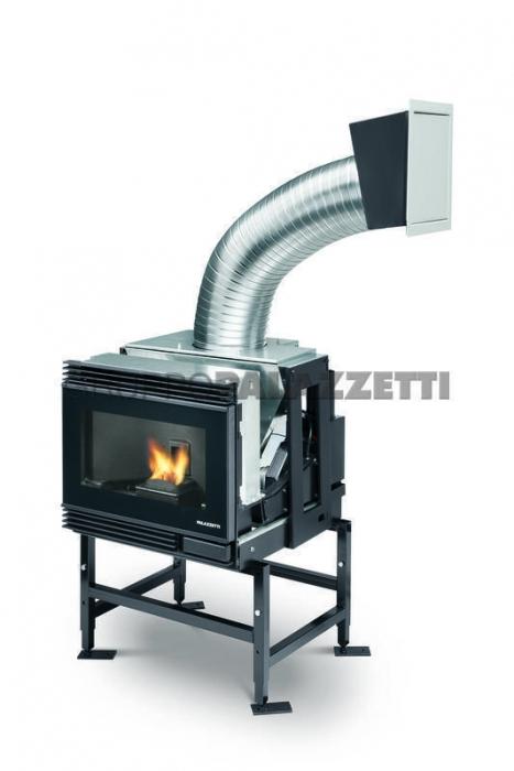 Caminetto a pellet palazzetti ecofire small 54 stile unico for Caminetti combinati legna pellet palazzetti