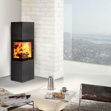 stufa a legna austroflamm slim 2 0 stile unico. Black Bedroom Furniture Sets. Home Design Ideas